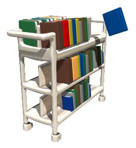 3D book cart