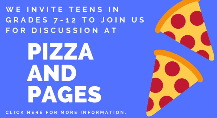 Pizza & Pages Teen Book Club