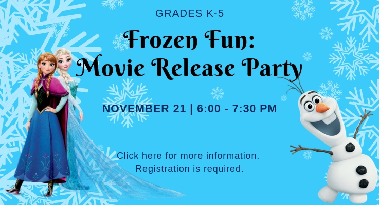 Frozen Fun: Movie Release Party
